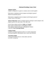 Abnormal psychology essay