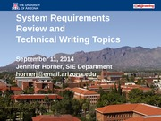 Slides -  SRR & Technical Writing