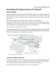 Demystifying the dragon's romance of Silk Road_Final
