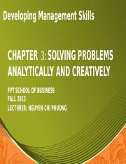 Chapter 3_ Problem soving, creativity and innovation