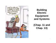 8 Building Electric equipment and systems