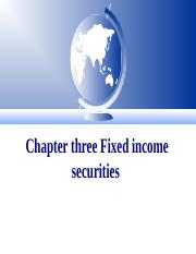 CHAPTER_THREE_FIXED_INCOME_SECURITY