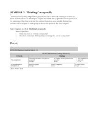 Seminar 2-Rubric_Thinking Conceptually