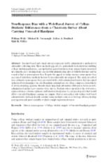 Non-Response Bias with a Web-Based Survey of College Students- Differences from a Classroom Survey A