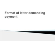 Format of letter demanding payment