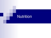 #3 Nutrition_part I