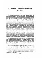 KELSEN, Hans. A 'Dynamic' Theory of Natural Law.pdf
