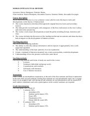 Syllabus - World Intellectual History [author version].doc