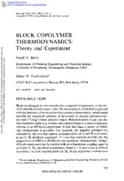 Block_copolymer_theory_experiment_Annu. Rev.Phys.Chem._41_525-57_Bates(1990)
