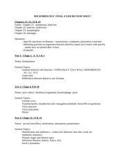 2009FINAL EXAM REVIEW SHEET
