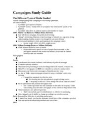 Campaigns Study Guide