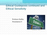 MGT 410 Fall12 Present 9 Ethical GuidepostsS continued
