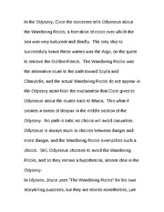 Essay on the second climax of Wandering Rocks 3