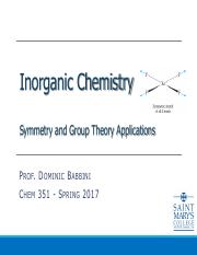 Lecture 5 - Symmetry and Group Theory Vibrations and Spectroscopy For BB.pdf