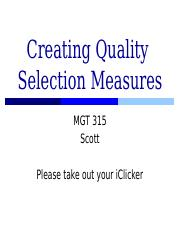 2.Creating Quality Selection Measures.Students.pptx