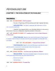 PSYCH289 : 290- CH1 THE EVOLUTION OF PSYCHOLOGY .docx