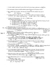 CHEM 1111 Solutions, Equilibrium, Acid & Base