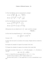 Differential Geometry Problem Set 2