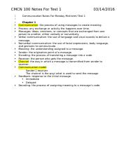 CMCN 100 Notes For Test 1.docx
