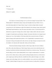 Reflective Essay Thesis  Pages The Metamorphosis Essay Thesis Statement Analytical Essay also Essay Examples High School The Metamorphosis  The Metamorphosis Quotes Analysis Erica Hansen   Thesis For Persuasive Essay