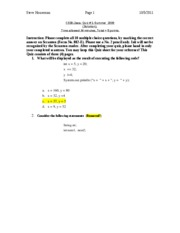 CS38-Quiz 1_Solution_Summer09