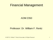 Chapter 09 Financial Management