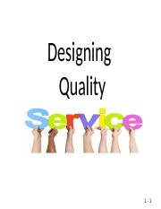 05 Designing quality service