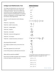 College Level Math Sample Questions.pdf