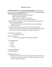 ADMN 2100 Marketing Terms Study Guide