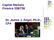 Cap Markets 2014 Class 1 Introduction and Role of Capital Markets