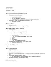 GOVChapters1-2Notes