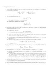Math 262 Sample Final