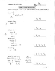 Precal 6.4-6.8 Test Review Solutions