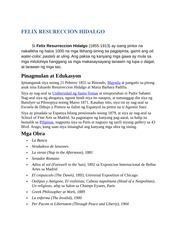 FELIX RESURECCION HIDALGO biography