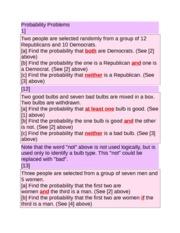 MA162 Finite Math Probability Problems