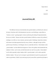 Summer Success Academy FYE Journal Entry 5.pdf