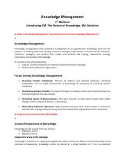 Knowledge Management - First Mid - Note v2.0