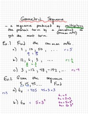 Geometric Sequences Notes