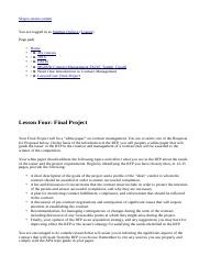 MG6650 Contract Management FA216_Tammi_Clearfi  Lesson Four  Final Project 1.htm