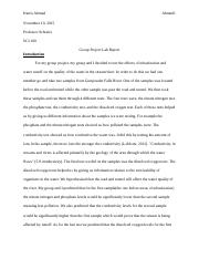 Group Project Lab Report