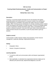 HBS  Study Questions TerraCog Global Positioning Systems Conflict and Communication on Project Aeria