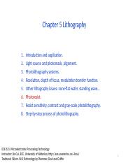 Chapter5 Lithography_II