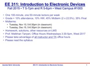 EE 311 Lecture Notes - Introduction