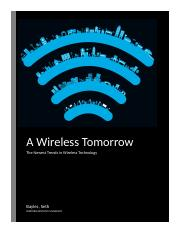 Newest Trends in Wireless Technology Report Current.docx