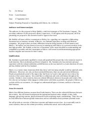 technical writing Planning Proposal Assignment Summers Laura.docx