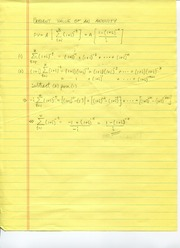 Derivations of Present Value Formulas