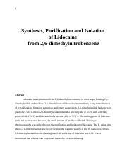 26 Dimethylaniline Chloro Dimethylacetanilide Lidocaine Melting Point C