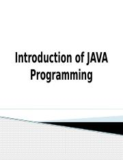 Introduction of JAVA Programming.pptx