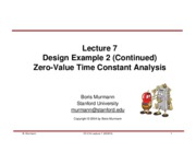 Lecture 07-Zero value time constant analysis