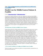 4-Health Care for Middle Eastern Patients and Families